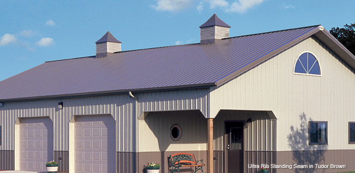 Ultra Rib Standing Seam in Tudoor Brown