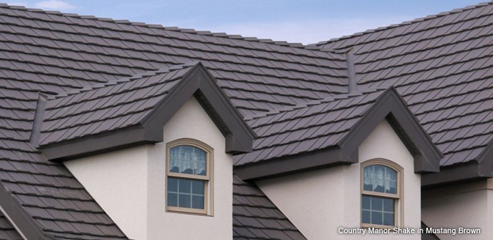 Country Manor Shake roof in Mustang Brown